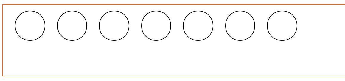 排成一行的 7 个圆